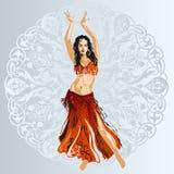 Dançarino de barriga ilustração royalty free