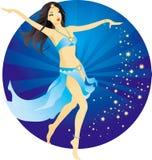 Dançarino de barriga bonito Fotos de Stock