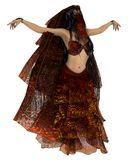 Dançarino de barriga sensual ilustração stock