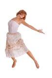 Dançarino de cabelo vermelho no branco Imagens de Stock