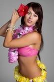 Dançarino de Hula Imagens de Stock Royalty Free