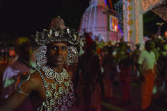 Dançarino de Kandyan, Sri Lanka Fotografia de Stock