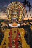Dançarino de Kathakali - India Fotografia de Stock Royalty Free