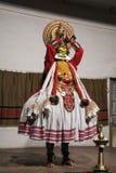 Dançarino de Kathakali - Kochi - Índia Imagem de Stock Royalty Free
