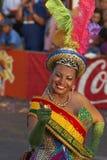 Dançarino de Morenada - Arica, o Chile Fotos de Stock