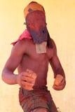 Dançarino de Nyau em um Gule Wamkulu, Malawi Fotografia de Stock