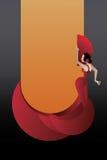 Dançarino denominado do flamenco da Espanha ilustração royalty free