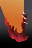 Dançarino denominado do flamenco da Espanha ilustração stock