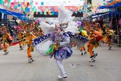 Dançarino do anjo no carnaval de Oruro em Bolívia Fotos de Stock Royalty Free