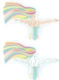 Dançarino do arco-íris Imagem de Stock