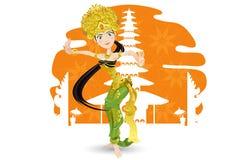 Dançarino do Balinese Imagens de Stock