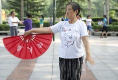 Dançarino do fã Foto de Stock Royalty Free