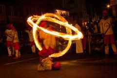 Dançarino do fogo imagem de stock