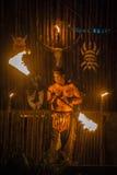 Dançarino do fogo Fotografia de Stock Royalty Free