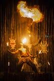 Dançarino do fogo Imagens de Stock Royalty Free