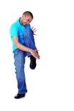 Dançarino do homem de Wacking imagens de stock royalty free