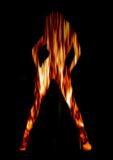 Dançarino do incêndio Fotografia de Stock Royalty Free