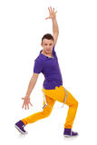 Dançarino do lúpulo do quadril isolado sobre o branco Imagens de Stock Royalty Free