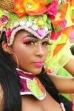Dançarino do samba em uma festa em Cartagena, Colômbia Foto de Stock