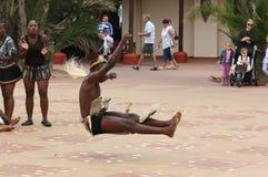 Dançarino do tribo Zulu fotografia de stock royalty free