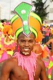 Dançarino em uma festa colombiana Imagem de Stock