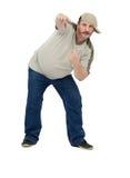 Dançarino envelhecido meio da batida Imagem de Stock