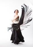 Dançarino espanhol fêmea do flamenco Fotografia de Stock Royalty Free