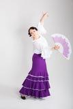 Dançarino espanhol fêmea do flamenco Imagens de Stock Royalty Free