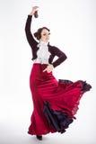 Dançarino espanhol fêmea do flamenco Foto de Stock Royalty Free
