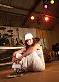 Dançarino fêmea de hip-hop do estilo livre Fotos de Stock Royalty Free