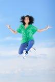 Dançarino fêmea de salto Imagens de Stock