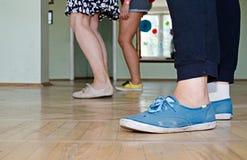 Dançarino ferido do lindy-lúpulo do balanço Foto de Stock