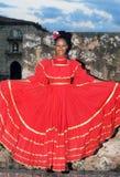 Dançarino folclo'rico dominiquense na fortaleza histórica Fotos de Stock Royalty Free