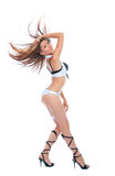 Dançarino go-go 'sexy' da mulher da tira do clube nocturno Fotos de Stock