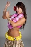 Dançarino havaiano de Hula Imagens de Stock