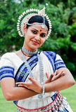 Dançarino indiano bonito Imagens de Stock Royalty Free