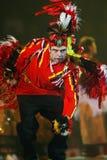 Dançarino indiano nativo imagem de stock