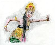 Dançarino indonésio Ilustração Stock