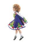 Dançarino irlandês tradicional no meio do ar fotos de stock royalty free
