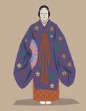 Dançarino japonês do noh Imagens de Stock Royalty Free