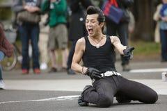 Dançarino japonês Rockabilly Fotografia de Stock