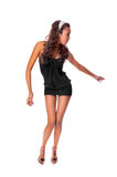 Dançarino magro isolado no fundo branco Fotos de Stock