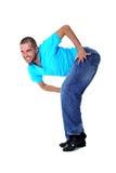 Dançarino maluco do homem imagem de stock royalty free