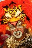 Dançarino mascarado em uma festa em uma festa colombiana Foto de Stock