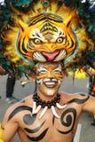Dançarino mascarado em uma festa em uma festa colombiana Fotografia de Stock Royalty Free