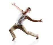 Dançarino masculino caucasiano foto de stock royalty free