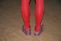 Dançarino medieval Fotografia de Stock Royalty Free