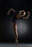 Dançarino moderno bonito novo do estilo que levanta em um fundo do estúdio Imagem de Stock
