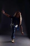 Dançarino moderno da mulher Fotografia de Stock