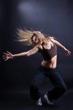 Dançarino moderno da mulher Fotos de Stock